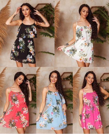 PACK 5 DRESSES OVERLAY FLOWER 3008