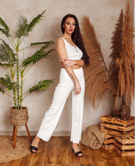 SET TOP + PANTS 9535 WHITE