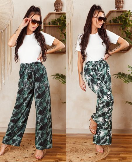 PACK OF 2 PAIRS OF PANTS PALAZZO 7743I6