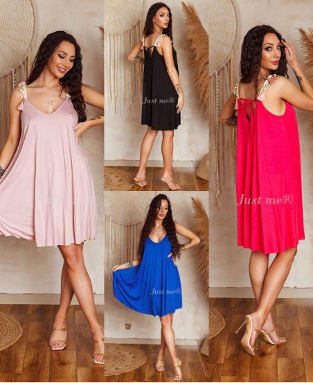 PACK 5 DRESSES EVASEES STRAPLESS A POM-POM 8827