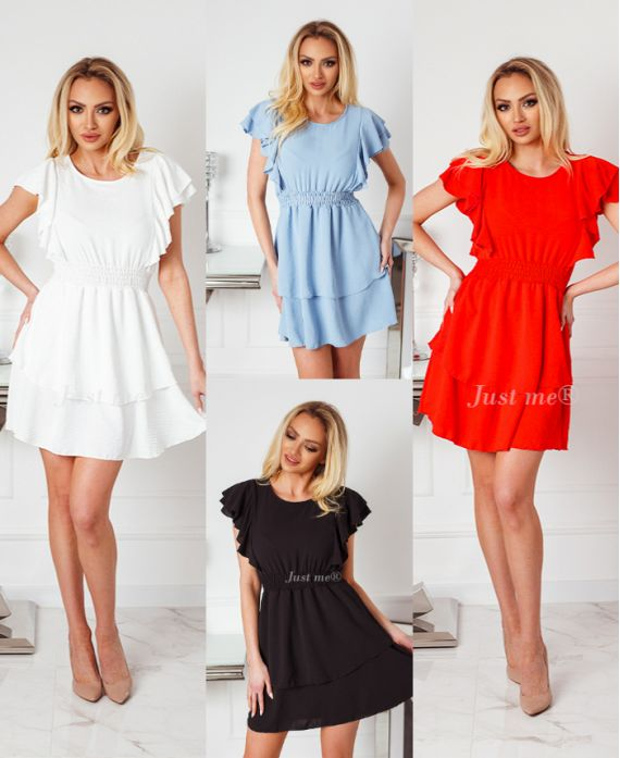 PACK OF 4 DRESSES WITH RUFFLES 0700
