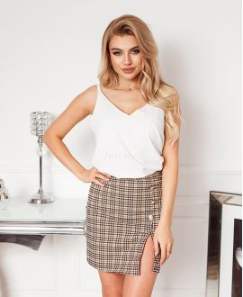 PACK 4 SKIRTS PLAID HAS BUTTONS S-M-L-XL 1930 CAMEL
