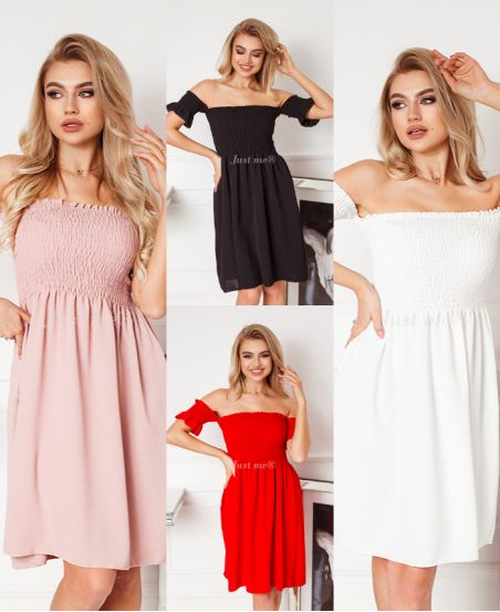 PACK OF 4 ELASTIC DRESSES 6650