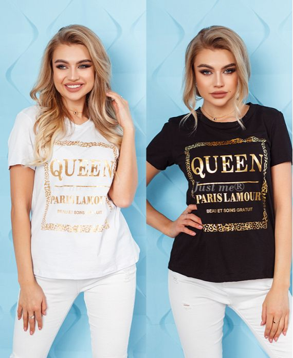 PACK 2 T-SHIRTS QUEEN 6705