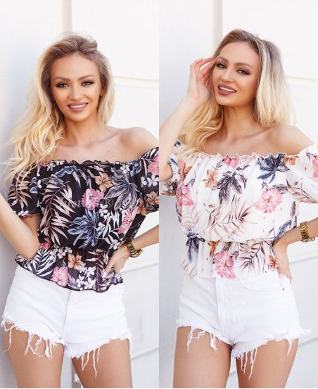PACK 4 PRINTED TOPS VOILE 1222