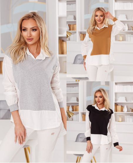 PACK 4 SWEATERS SHIRT 2-IN-1 6524