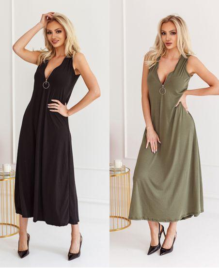 PACK OF 3 LONG ZIPPED DRESSES 1246