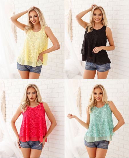 PACK 4 LACE TOPS 6732
