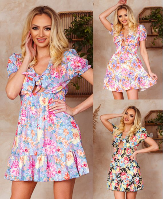 PACK 3 DRESSES ELASTICATED BUST TO TIE 1130