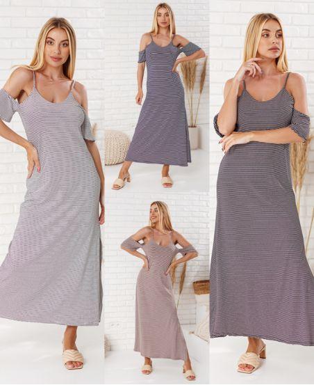 PACK 4 STRIPED LONG DRESSES 7817