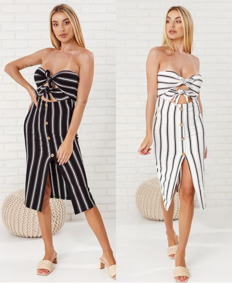 PACK 2 ROBES BUSTIER RAYEES 7992