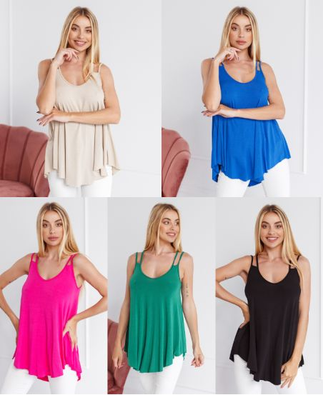 PACK 5 STRAPLESS TOPS 9524