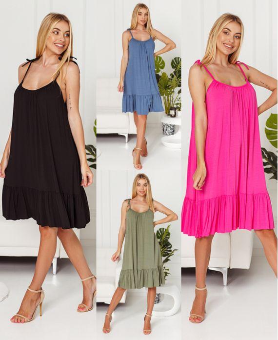 PACK 4 STRAPLESS DRESSES 20166