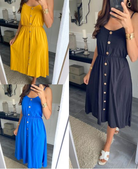 PACK OF 3 DRESSES HAS BUTTONS 9539