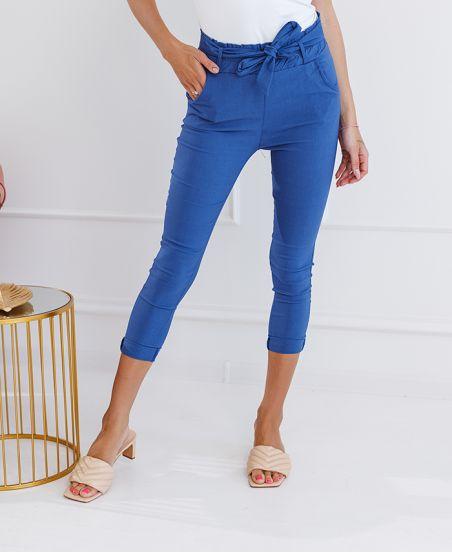 Pakiet 5 spodnie chino S-M-L-XL-XXL p113 niebieskie dżinsy