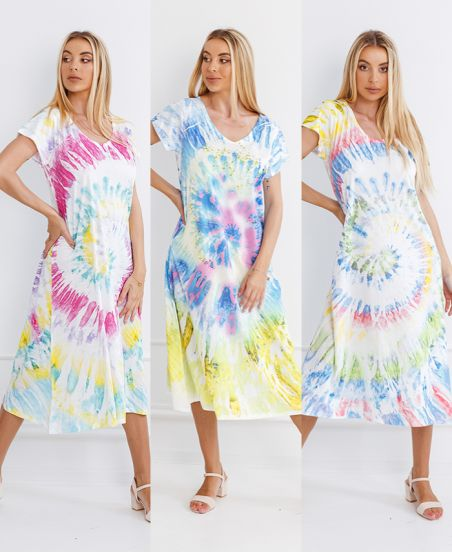 PACK 3 TIE AND DYE DRESSES 6786