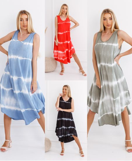 PACK 4 TIE AND DYE DRESSES 6681