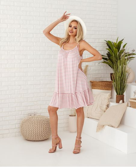 DRESS RAYEE HAS SHOULDER STRAPS 2951 PINK
