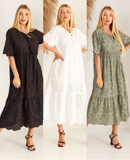 PACK 3 VESTIDOS BRODERIE ANGLAISE 6637
