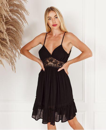 BLACK LACE DRESS 6061
