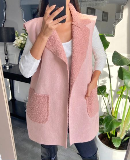 COAT WITHOUT SLEEVES MOUMOUTE 9797 PINK
