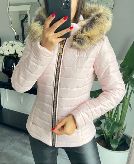 PACK 4 JACKETS DOWN JACKET MATELASSEES A HOODY S-M-L-X - 1981-PINK