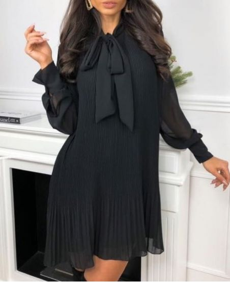 PACK 2 PLEATED DRESSES 2904 BLACK