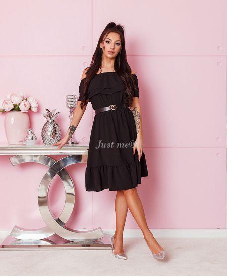 PACK 4 DRESSES SHOULDER DENUDEES + BELT 1004