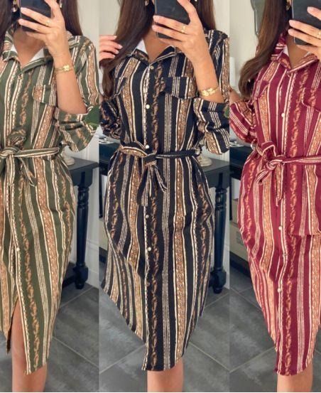 PACK 4 DRESSES SHIRT PRINTED 9655I1