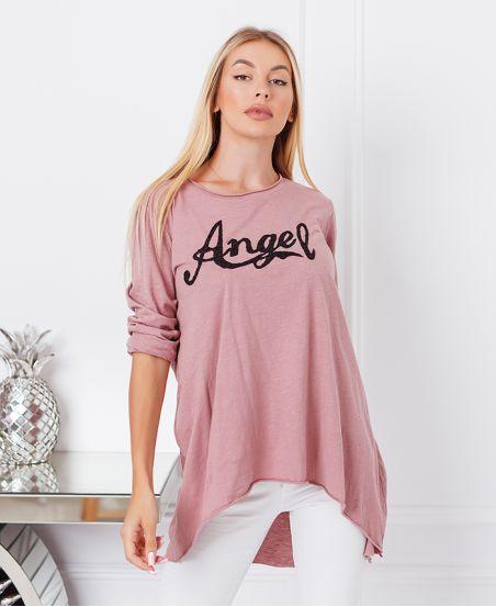 MAGLIONE TUNICA ANGELO 21084 ROSA