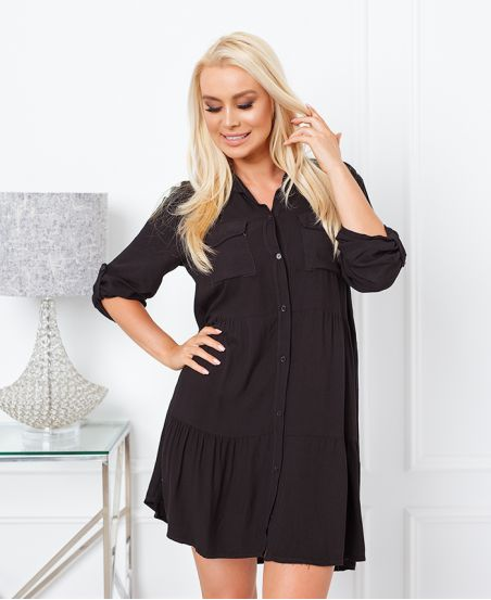 EVASEE DRESS WITH POCKETS 9351 BLACK