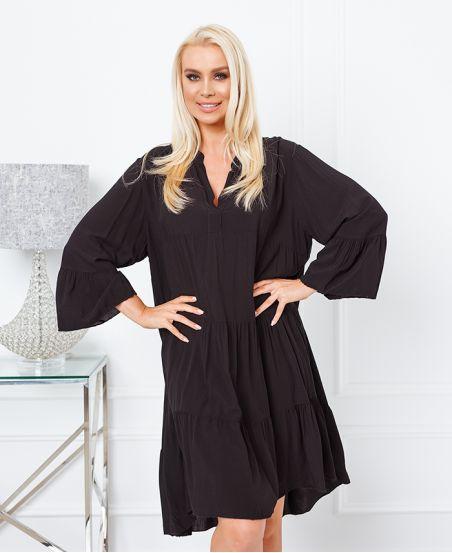 FLOWING OVERSIZE DRESS 9535 BLACK