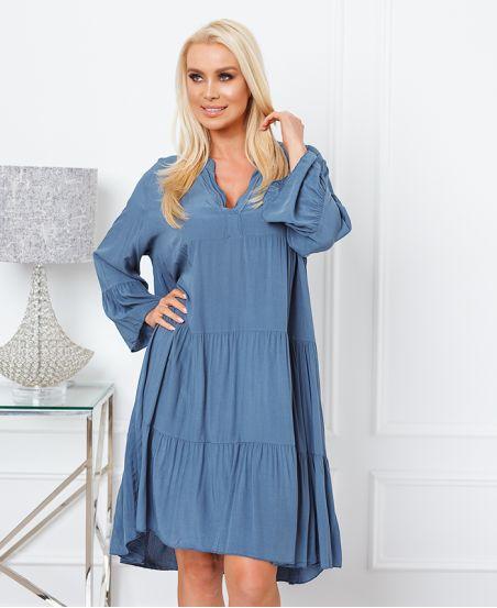 FLOWING OVERSIZE DRESS 9535 BLUE EANS