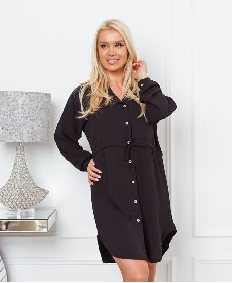 BUTTON TUNIC WITH LINK 1350 BLACK