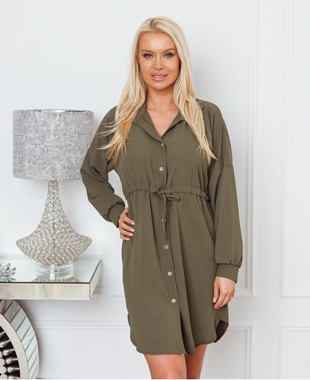 BUTTON TUNIC WITH LINK 1350 MILITARY GREEN