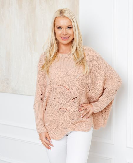 PULLOVER AJOURE OVERSIZE 933 ROSE