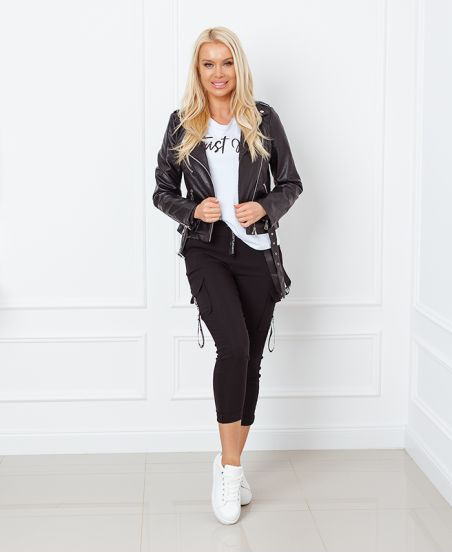 5 PACK spodnie S-M-L-XL-XXL Czarny P022