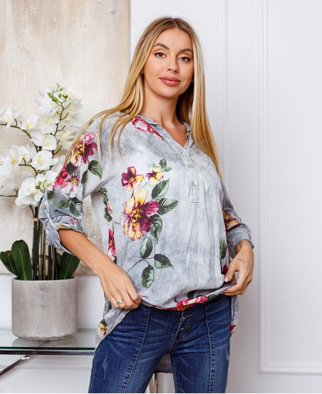 TUNIC FLOWER A PAILLETES 3477 GREY