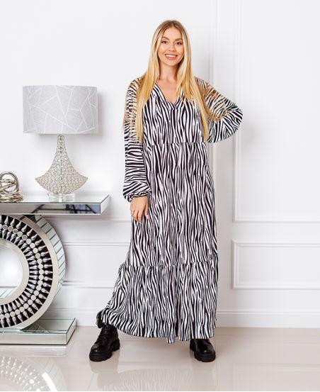OVERSIZED LONG DRESS 1071I1 BLACK