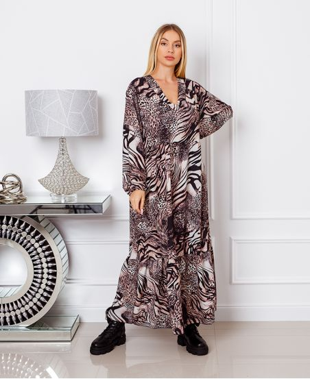 OVERSIZED LONG DRESS 1071I4 BEIGE