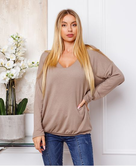 FINE SWEATER DETAILS SILVER TAUPE 21283