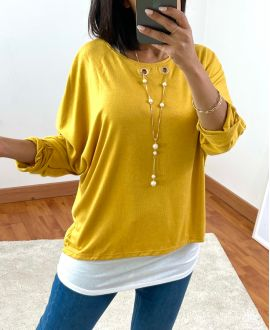 SWEATER 2 PIECES INTEGRATED JEWEL 8372 MOUTADRDE