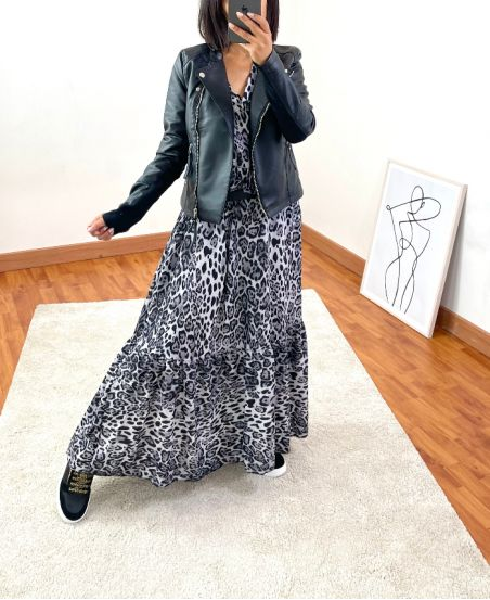 OVERSIZED LONG DRESS 1071I5 LIGHT GREY