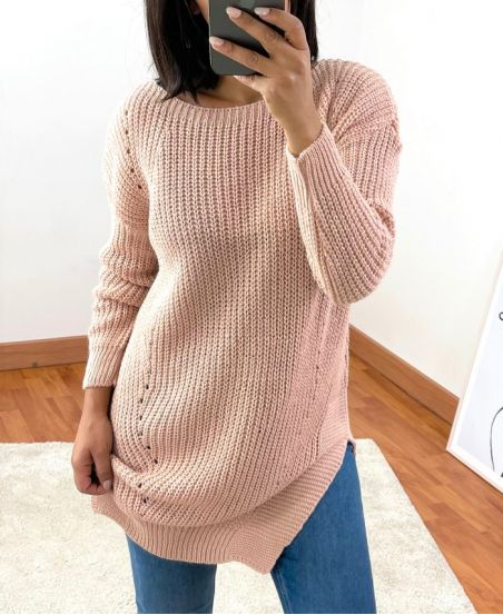 PULLOVER LANG 953 ROZE