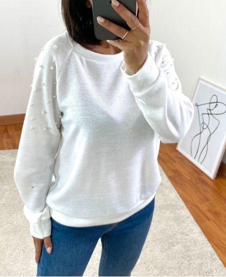PEARL SWEATER 8285 WHITE