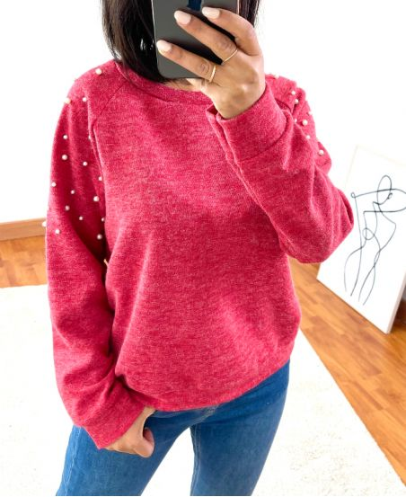 SWEATER PEARLS 8285 RED