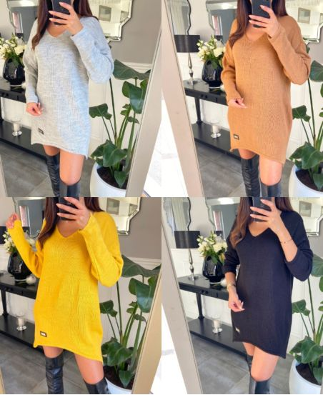 PACK 4 KNITTED PULLOVER DRESSES 2072