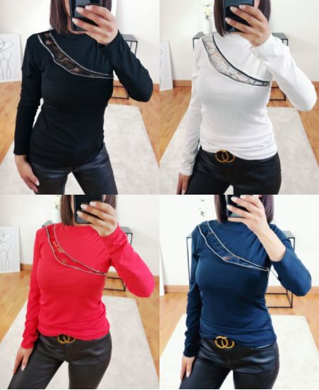 PACK 5 SWEATER LACE AND ZIP CHEST 8945