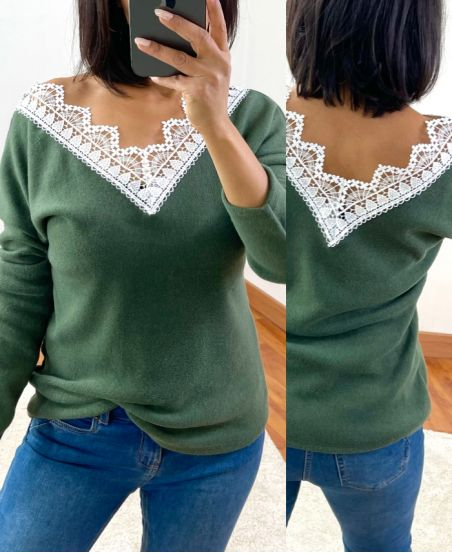 SWEATER SOFT LACE 1477 MILITARY GREEN