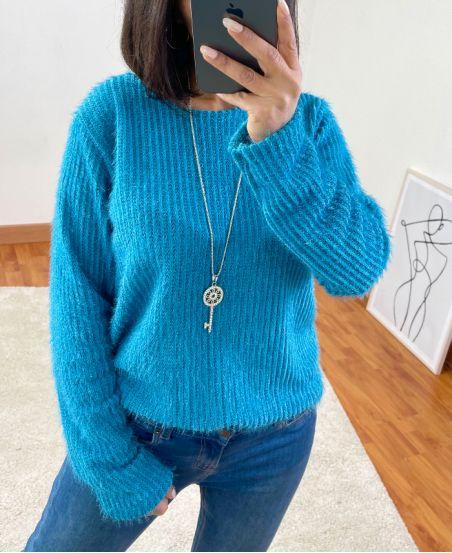 MAGLIONE MORBIDO 6187 BLUE LAGOON